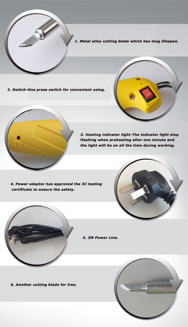 Banner Heating Cutter Tool Specially for Polyester Fabric details