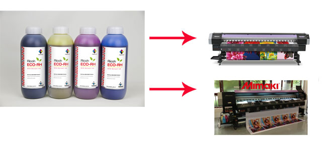 Compatible Ricoh Printhead ECO Solvent Ink usage