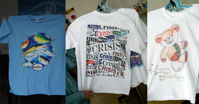 T-Shirt Digital Printer (380mmx480mm) application