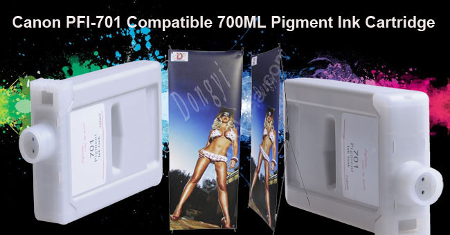 700ML Compatible Canon 701 Pigment Ink Cartridge