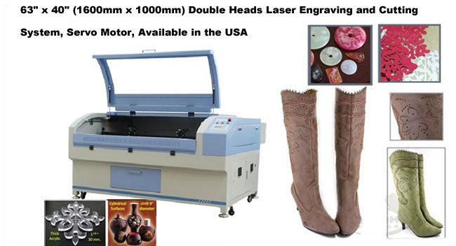 Double Heads Laser Engraving and Cutting System, Servo Motor