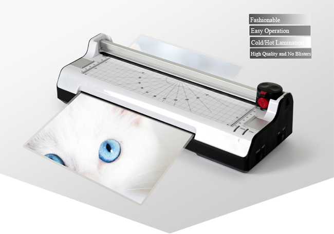A4 Multi-functional 2 in 1 Photo Thermal and Cold Pouch Laminator with Paper Trimmer