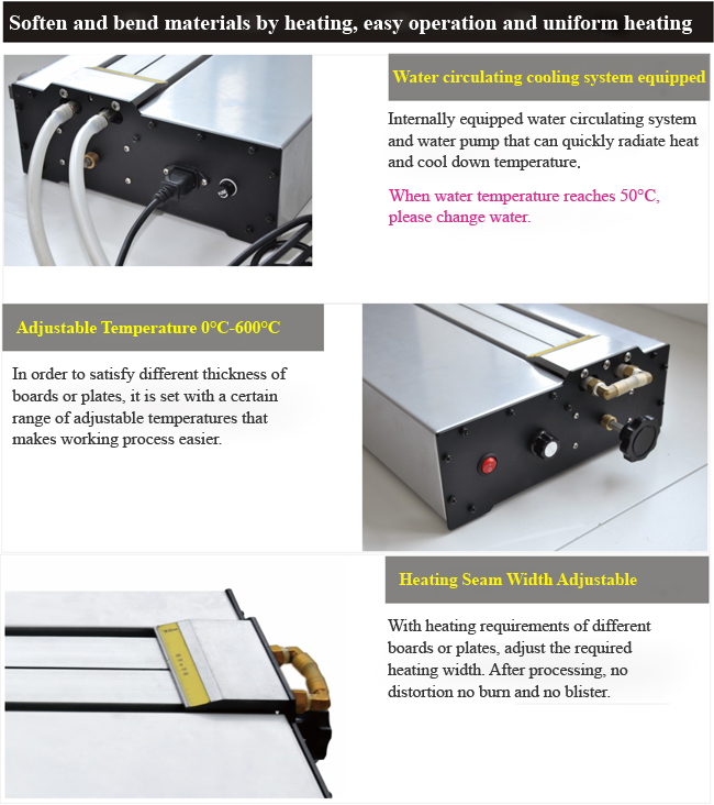 Acrylic Plastic PVC Bending Machine with Infrared ray calibration details 2