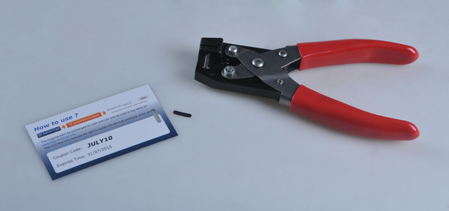 PVC Card and ID Card Flat Slot Hole Punch