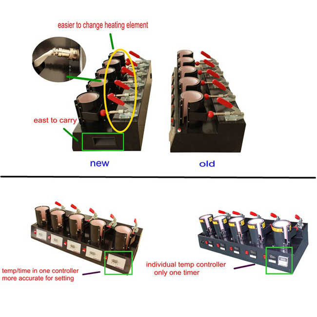 Upgrade High Efficient 5 Digital Cup Mug Heat Press Machine Comparision