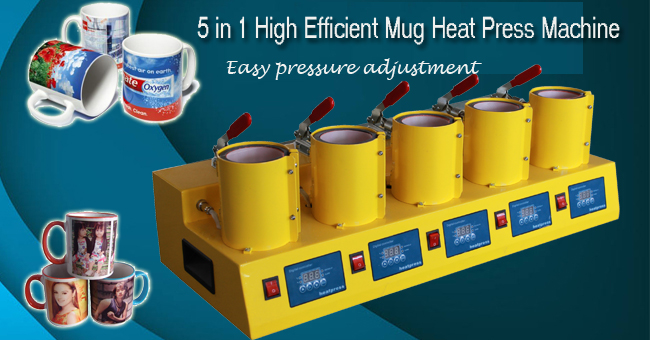 Upgrade High Efficient 5 Digital Cup Mug Heat Press Machine