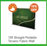 10ft Straight Portable Tension Fabric Wall
