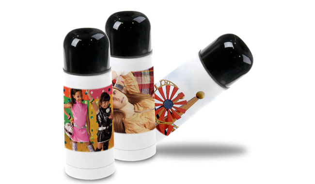 Blank White Thermos Flask Travel Mug for Sublimation Printing