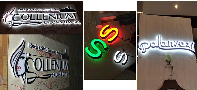 Indoor Front and Side Lit Customized Advertising Mini Acrylic 3D LED Channel Letters Signs