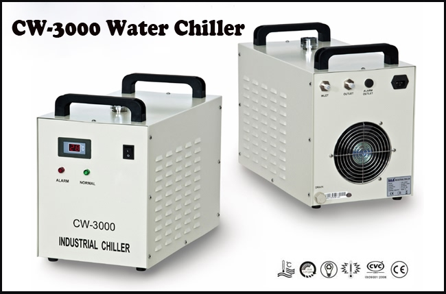 US Stock-AC 1P 110V 60HZ CW-3000DF Thermolysis Industrial Water Chiller for 0.8KW / 1.5KW Spindle Cooling