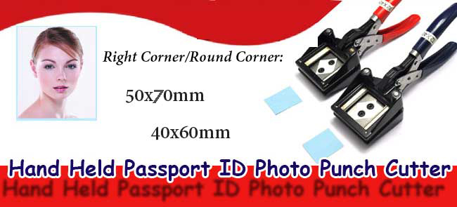Hand Held Passport ID Photo Picture Punch Cutter
