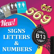 Neue Schilder Buchstaben & Zahlen