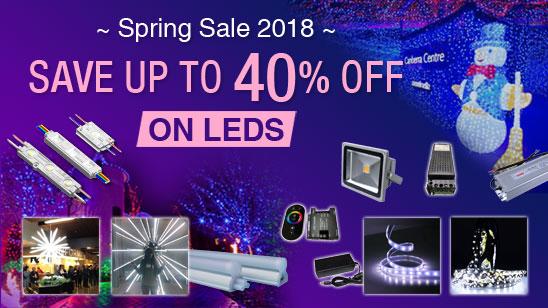 LED, stock ora e preparati per il Rush del Festival di Primavera cinese, fino al 40% di sconto