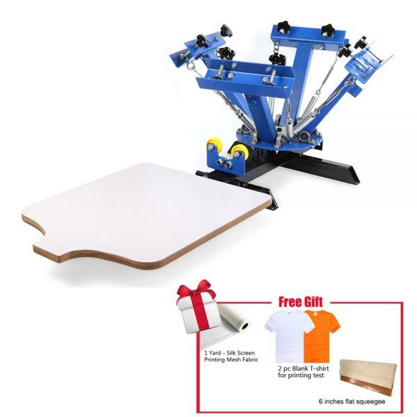 4 Color Screen Printing Press Machine Silk Screening