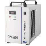 S & A CW-5200AG Industriële Water Chiller (AC 1P 220V, 50Hz) voor Single 150W CO2 Glass Laser Tube Cooling