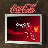 A2 Taille Cristal LED Slim Light Box super avec Logo