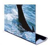 "33 ""W x 79"" H Whale Forme bonne qualité Roll Up Banner Stand (Stand Only)"