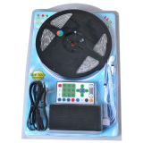 Waterproof RGB Color Chasing LED Strip Light Kit 16.4ft LED Light Strip(270 SMD 5050)+adaptor+Remote 5m/roll