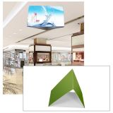 10ft Ceiling Banner Display Triangular Hanging Sign with Stretch Fabric Graphics