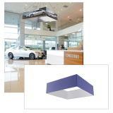 16ft Ceiling Banner Display Square Hanging Sign with Stretch Fabric Graphics
