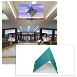 20ft Ceiling Banner Display Triangular Hanging Sign with Stretch Fabric Graphics