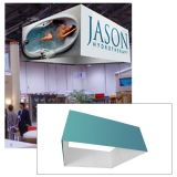 8ft Ceiling Banner Display Square Hanging Sign with Stretch Fabric Graphics