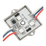 SMD 5050 Waterproof LED Module (3 LED, RGB Light, Stainless Iron, 0.72W, L36 x W36 x H6mm) WS2811 IC