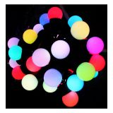 AC220V Φ17mm Color Changing 100LED RGB Ball 32 Feet String for Christmas XMAS Party