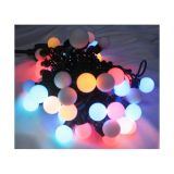 AC220V Φ17mm Monochrome 50LED Ball 16 Feet String for Christmas XMAS Party