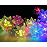Solar Powered Fairy String Lights Wedding Party Xmas Lotus Shaped Lamp