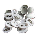 1000pcs 25 x 18mm Oval Pin Badge Button for Badge Making Machine