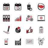 Business Flat Metro Style Icon Set (Free Download Illustrations)