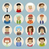 Colourful People Characters Flat Vector Stock Set Illustrations (Free Download Illustrations)