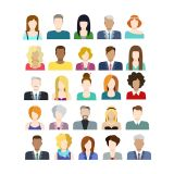 Set of People Avatar Vector Stock Set Illustrations (Free Download Illustrations)