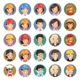 Workmen with Hard Hat Vector Stock Set Illustrations (Free Download Illustrations)