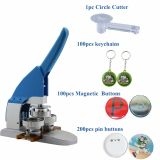 "1-1/4"" 32mm Button Maker Machine Badge Press+ Pin Buttons+Magnetic Buttons+Keychains +1pc 32mm Circle Cutter"