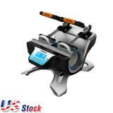 US Stock-110V High Quality Mini Automatic Double Station Mug Heat Press Machine