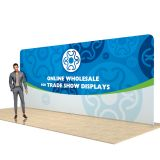 20ft rechte rug Wall Display met Gewoonte Stof Graphic