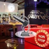 20W Desktop or Mountable LED Gobo Projector Advertising Logo Light (with Custom 1 Color Rotating Glass Gobos)