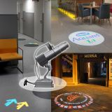 20W Desktop or Mountable LED Gobo Projector Advertising Logo Light (with Custom 3 Colors Rotating Glass Gobos)