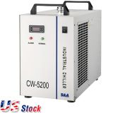 US Stock, S&A CW-5200DH Industrial Water Chiller (AC 1P 110V 60Hz) for One 8KW Spindle / Welding Equipment / One 130-150W CO2 Glass Laser Tube Cooling, 0.93HP