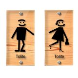 Male, Female, Transparent Restroom Signs, Toilet Signs