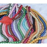 Colorful Round Glass Pearl Beads 10mm