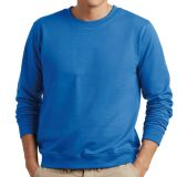 Blank Heat Transfer Long Sleeve Crewneck Sweatshirts Cotton and Polyester T-Shirts for Men