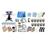 6 Color Silk Screen Printing Kit Silk Screen Printer & Press Tools Materials