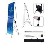 "Group Buying-24""W x 63""H Economy Aluminum Foot Tripod X Banner Stand (Stand Only)(10pcs/pack)"