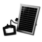 Long Time 6W 16-LED Solar Powered Dusk-to-Dawn Sensor Waterproof Outdoor Security Flood Light