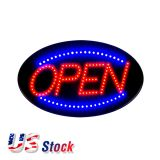 "US Stock-10pcs 19"" x 10"" Ultra Bright LED Neon Light Animated Motion Open Business Sign, 110V"