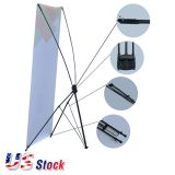 "US Stock-24""W x 63""H Economy Aluminum Foot Tripod X Banner Stand (Stand Only)(10pcs/pack)"