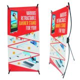 X Desktop Display (20x42cm) Promotional Materials for Roll Up Banner